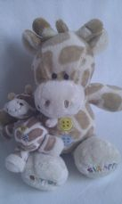 Adorable My 1st 'Mummy & Baby Giraffe Buttons' Plush Toy